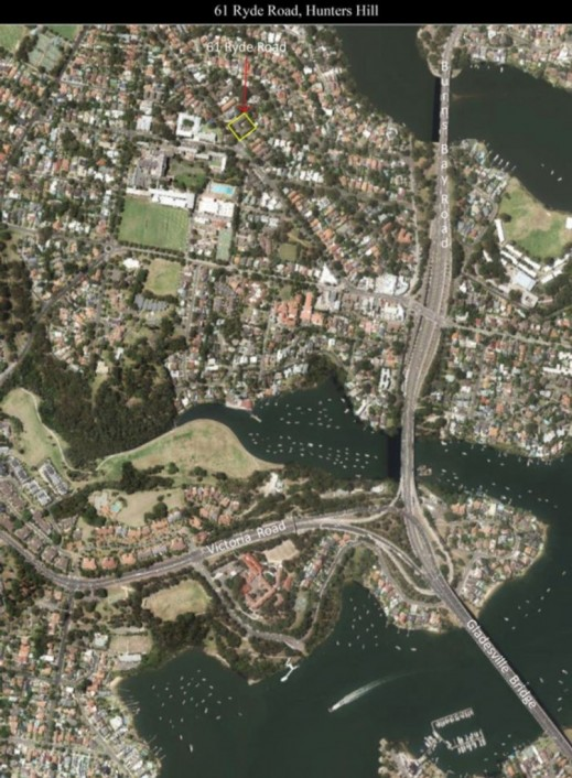 Aerial Position in Hunters Hill