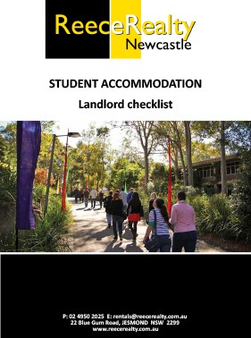Student Accommodation Checklist