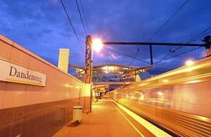 Dandenong Train Station - platform
