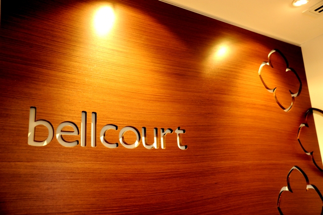 Logo at entry - Bellcourt Strata Management