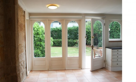 French doors to back