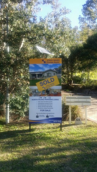 Sold Sign -3/324 Pittwater Rd