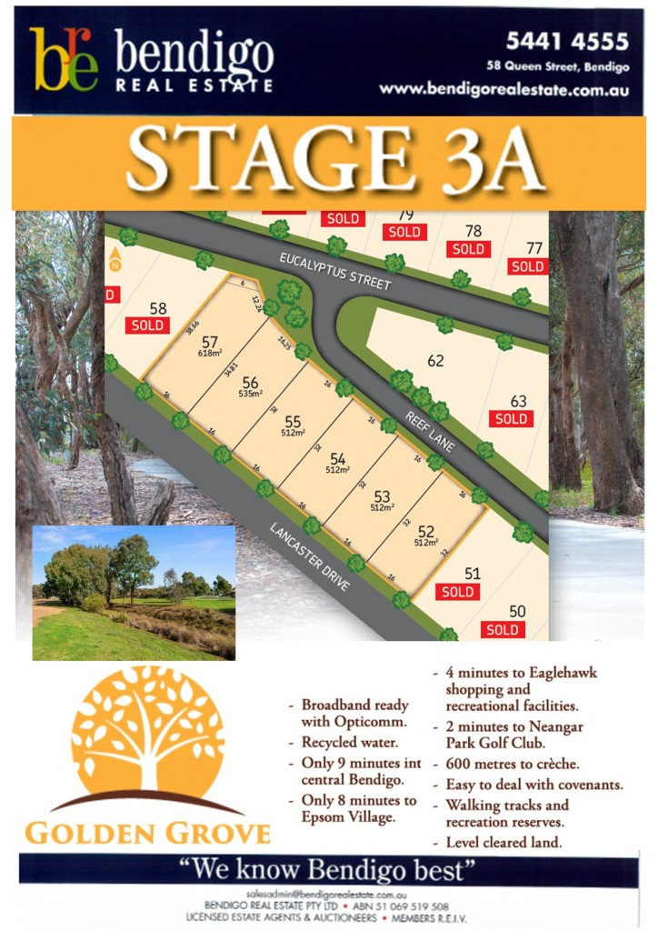 Lots 47-84 Golden Grove - Stage 3 & 3A