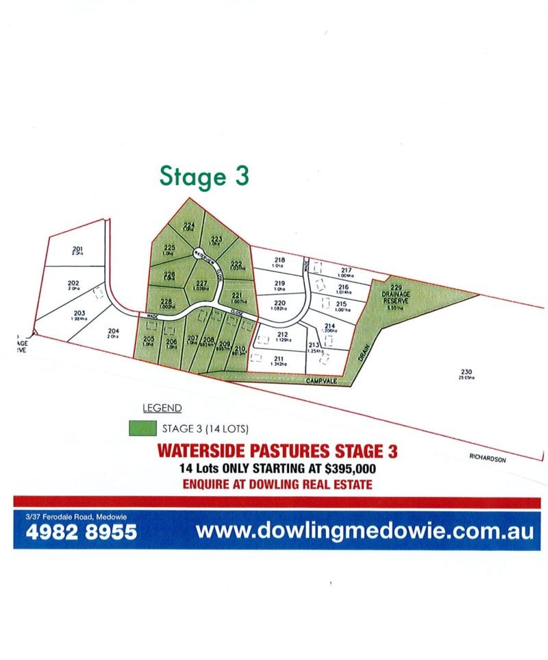SOLD/Lot 226 Harvest Road MEDOWIE