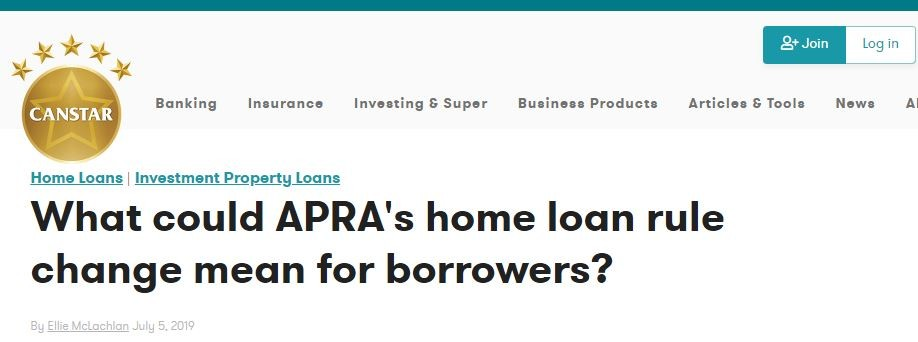 Canstar APRA Home Loan Rules