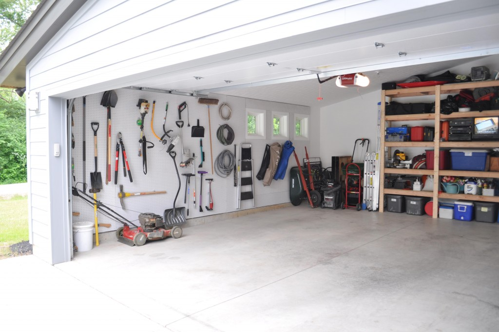 Neat Garage with Good Storage