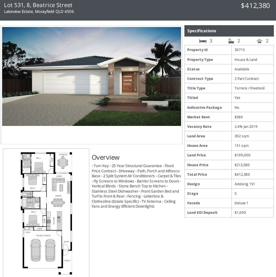 Lot 531 Opt 1 8 Beatrice Street Morayfield